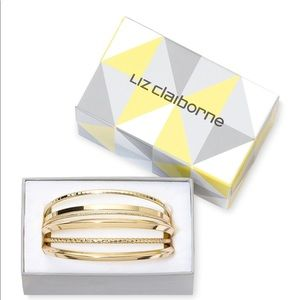 Gold Tone 6 pc Bangle Bracelet